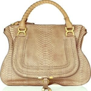 Chloe Marcie python large shoulder bag